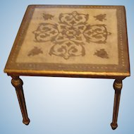 Florentine Gold Gesso over Wood Low Side or Child's Table Italy