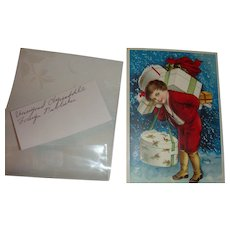 Early 1900's Embossed Frohliche Weihnachten German Christmas Postcard Clapsaddle