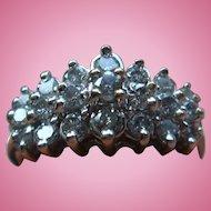 21 Diamond 0.75 Carat Cocktail Ring 10K Gold Engagement, Wedding IL Estate