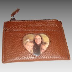 Like New Vintage Brighton Pebble Leather Accessory for Coins, Credit Cards, Pictures, License