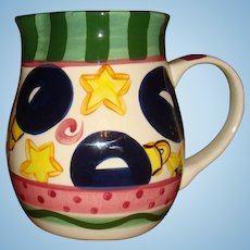 Hard to Find Large Retired Tis The Season Vicki Carroll Pottery, Christmas Pitcher