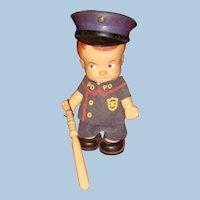 1966 Uneeda Miniature Police Doll Hong Kong