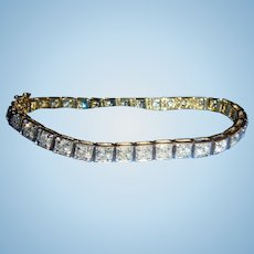 14K Yellow Gold 34 Brilliant Cut Diamond Bracelet 4 Carats $3200 Appraisal