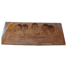 Panoramic  Dionne Quintuplets Blotter Advertisement O'Neall Co. Illinois ARMCO