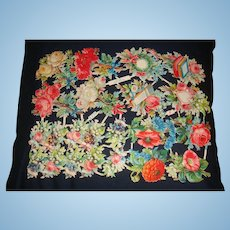 Paper Victorian  German Die-Cuts Diecuts Roses, Flowers, Hearts, Pansies, Poppies, Lily of the Valley