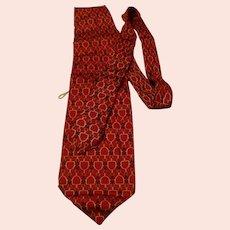 Gucci Silk Necktie Tie Horse Bit Design Made in Italy
