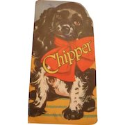 1949 Chipper,  Children's Shape Book for Dog Lovers, Rhyming Poetry Style Whitman