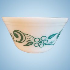 Hard to Find Pattern Turquoise Mixing Bowl