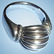 Sterling Silver Joseph Esporito Modernist or Contemporary Style Ring Size 8 1/4