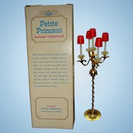 Petite Princess Dollhouse Mid Century 5 Arm Candelabra Original Box