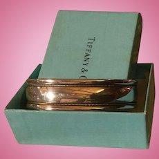 Christmas Sale Vintage Tiffany Sterling Silver 18K Gold Cuff Bracelet