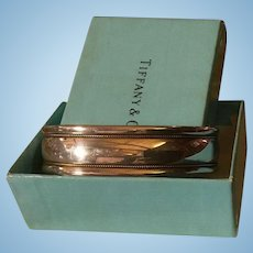 Vintage Tiffany Sterling Silver 18K Gold Beaded Bracelet