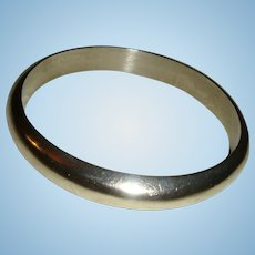 Heavy Solid Sterling Silver Taxco Mexico Bangle Bracelet