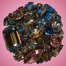 Sparkling Austria Crystal Glass Stones Brooch Mixed Cut Stones