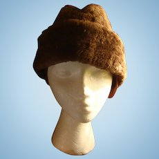 North King Seifter & Sons Brown Beaver Fur Hat New York
