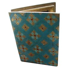 Italian Florentine 1935 House Blessing Gold Gesso Open Book Design