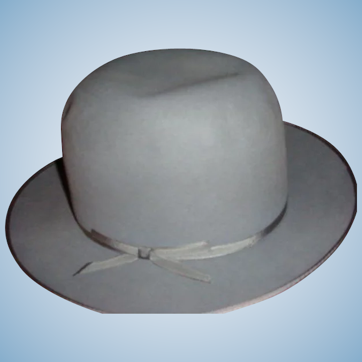 dceaf7bb22f79 Vintage Royal Stetson High Crown Fedora Gray Hat Original  10 Tag   The  Loft Antiques