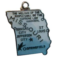 Double Sided Enameled Sterling Missouri State Charm