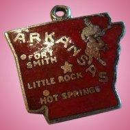 Sterling Enameled State Charm of Arkansas