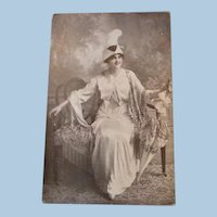 1913 Real People Photo Advertising Spring Hats Millinery Opening Days Postcard