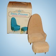 IDEAL Petite Princess Mid Century Occasional Chair with Ottoman Orig. Box