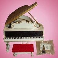 Petite Princess Royal Grand Piano Dollhouse Size Original Box IDEAL