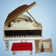 Petite Princess Royal Grand Piano Dollhouse Size Original Box IDEAL