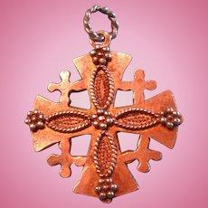 Emilia Sterling Jerusalem Cross Charm or Pendant