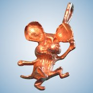 14K Gold Dancing Cartoon Mouse Charm