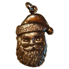 Very Detailed Sterling Silver Santa Claus Charm