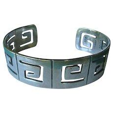 Taxco Mexico Sterling Silver Open Work Bracelet 35 Grams