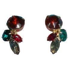 4 Colors Shapes Prong Set Rhinestone Earrings