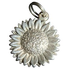 Dimensional Sterling Silver Daisy or Sunflower Charm
