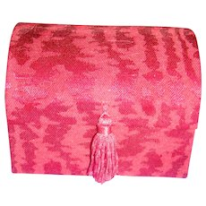 Sweet Dome Shaped Cloth Covered Box Trunk with Tassel