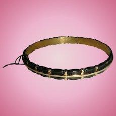 Crown Trifari Enamel Bracelet With Original Tags