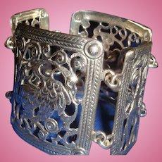 Early Guglielmo Cini Sterling Wide Panel Bracelet