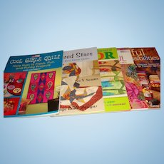 Five Quilting Books in Like New Condition, Patterns, Color, Projects