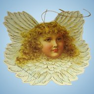 Set of 7 Vintage 1986 Cardboard Die Cut Blond Cherub Angel Marked Christmas Ornaments
