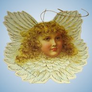 Set of 7 Vintage 1986 Cardboard Die Cut Blond Cherub Angel Marked Christmas Ornaments