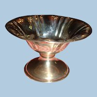 Doll Size Fluted Silver Pedestal Compote