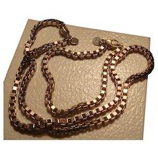 Tiffany & Co. Sterling Silver Venetian Box Chain Necklace Bracelet Set