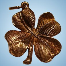 ROC 10K Yellow Gold Four Leaf Clover Charm