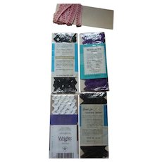 Pink, White, Purple and Black Trim for Your Doll Clothes, Sewing Accessories