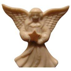Lenox White China Angel Pin 22 Karat Gold Star With Original Card