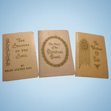 Three Vintage Miniature Doll Size Books Christmas, Inspirational,  Published by Gibson Greeting Cards