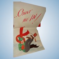 Count Me In Die Cut Pop Up Card from Christmas Comics on Parade Series