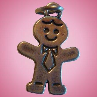 SJC 925 Sundancer Jewelry Co. Sterling Silver Gingerbread Man Charm or Businessman