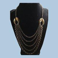 Stunning Victorian Belcher Chain Necklace 5 Strands
