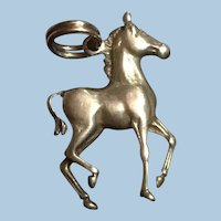 Vintage Sterling Silver Graceful Trotting or Prancing Horse Charm KY Derby
