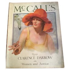 Complete Edition June 1928 McCall's Magazine Art Deco Fashion, History, Advertisements, Women